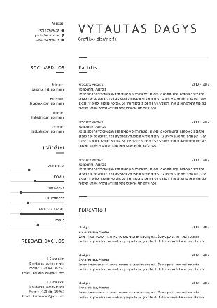 CV su motyvaciniu laišku