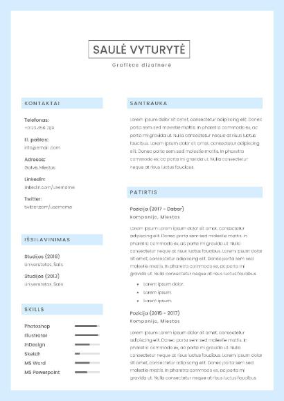 Elegantiškas CV šablonas