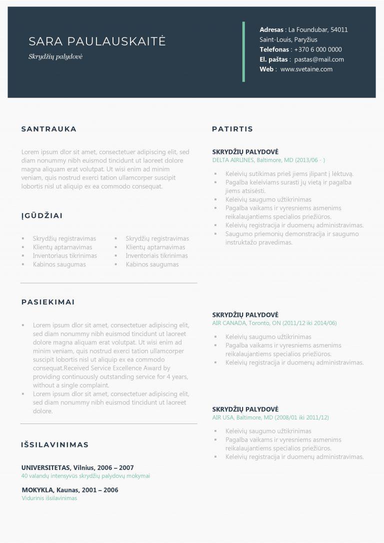 Universalus CV šablonas