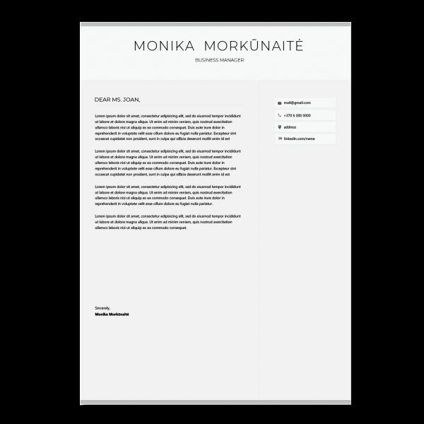 Vadybininko motyvacinis laiškas anglų kalba